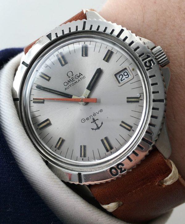 Original Omega Geneve Automatic ADMIRAL Vintage Diver
