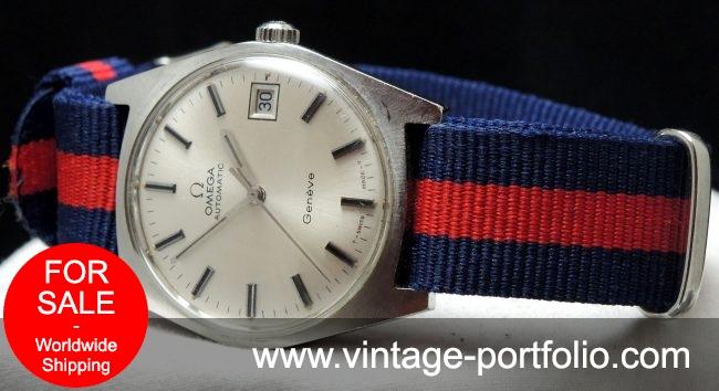 Original Omega Geneve Automatic Date Steel Vintage