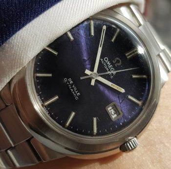 Omega Geneve De Ville amazing blue Choatic-Linen dial