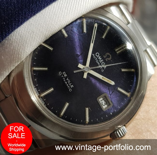 Original Omega Geneve De Ville with amazing blue Linen dial