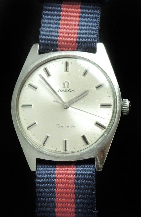 Vintage Omega Geneve Onyx Indices Nato Strap