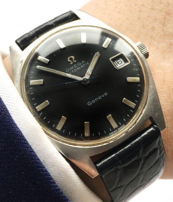 Amazing Omega Geneve black dial Automatic Vintage