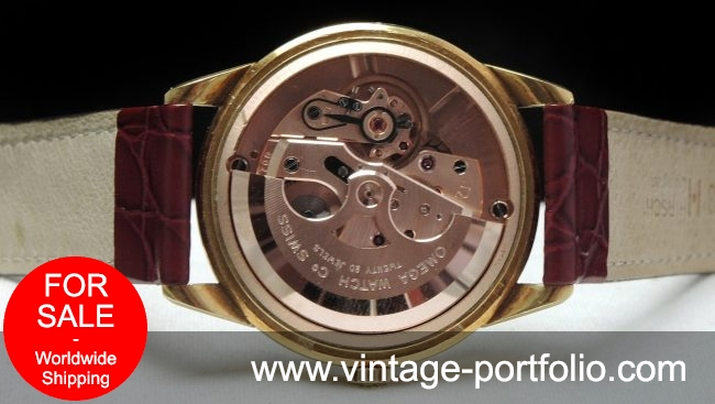 Perfect Omega Geneve Pie Pan Vollgold Automatic Full Set