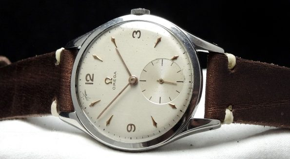 Wonderful Omega 38mm Oversize Jumbo Vintage Ecru Strap