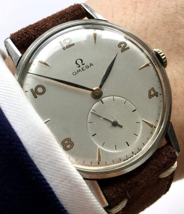 Omega Oversize Jumbo 37mm Oversize Watch with Vintage Strap