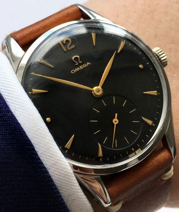 Omega Oversize Jumbo 38mm Vintage black dial