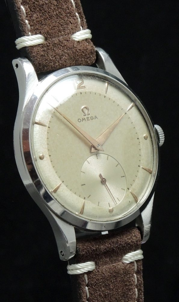 Omega Oversize Jumbo 38mm Vintage watch patina dial