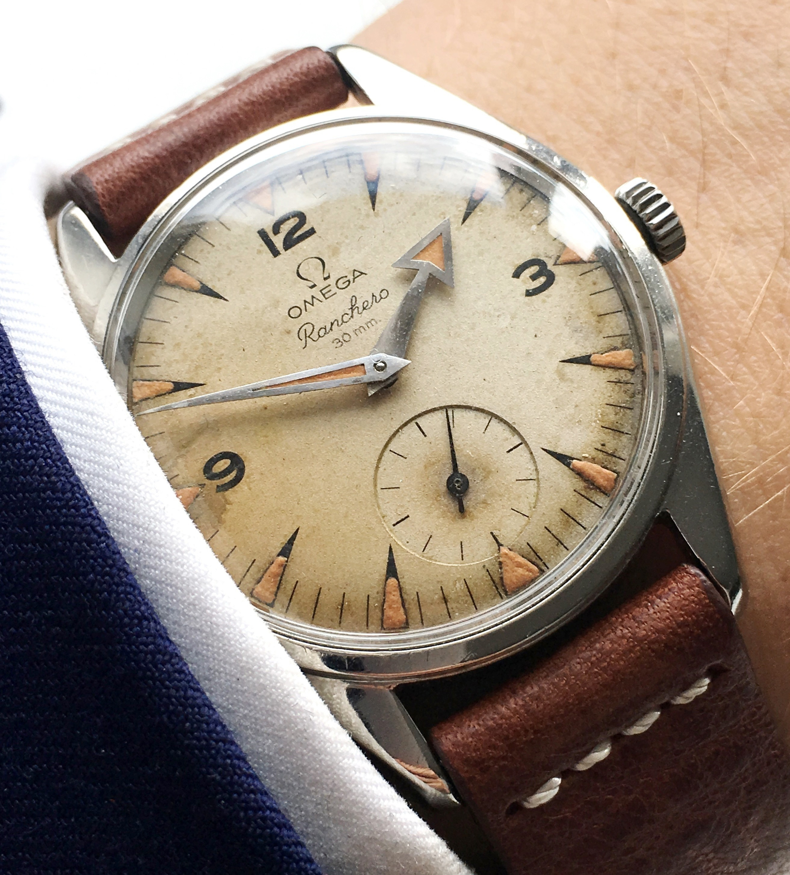 Factory Original Omega Ranchero Vintage Cream Dial