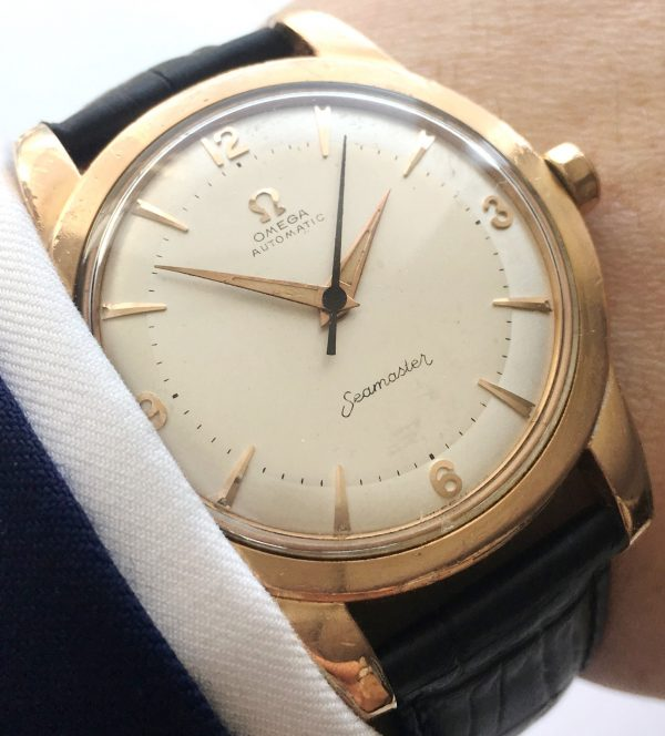 37mm Omega Seamaster Automatic Bumper pink gold plated