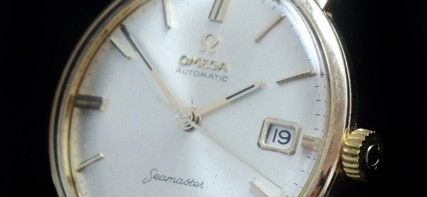 Vintage Omega Seamaster Automatic Solid Gold Date