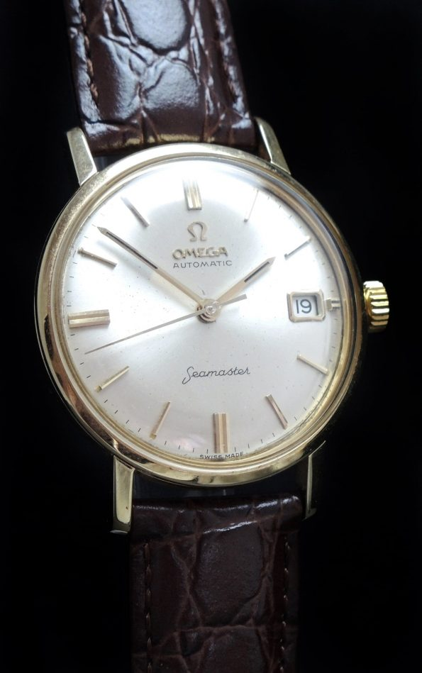 Amazing Omega Seamaster Automatic Solid Gold Date