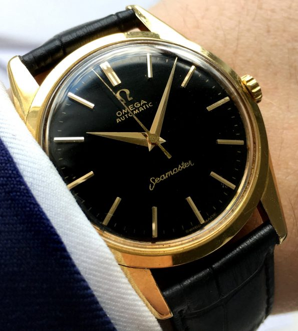 Perfect Omega Seamaster Automatic Automatik 18 ct solid gold
