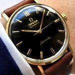 Serviced Omega Seamaster Automatic black dial