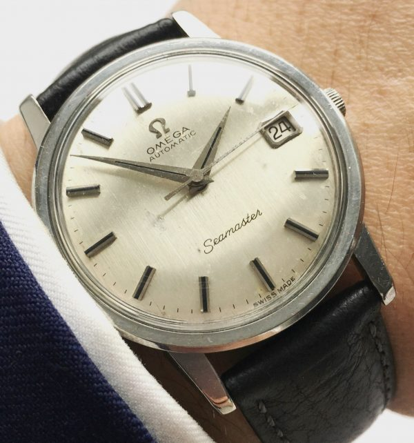 Genuine Omega Seamaster Automatic Linen Dial