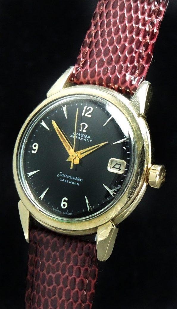 35mm Omega Seamaster Calendar Automatic Automatik black dial