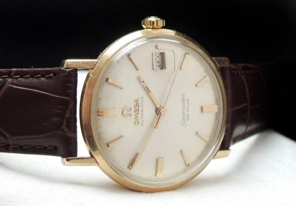 Serviced Omega Seamaster De Ville Automatic Solid Pink gold