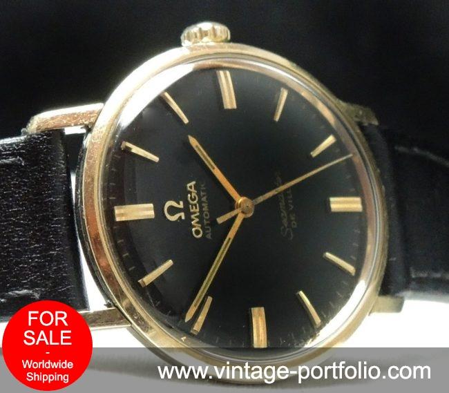 Serviced Omega Seamaster De Ville Automatic black dial
