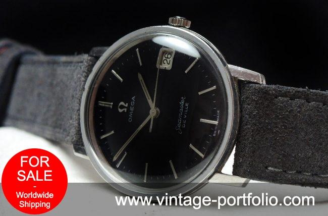 Amazing Omega Seamaster De Ville black dial Vintage