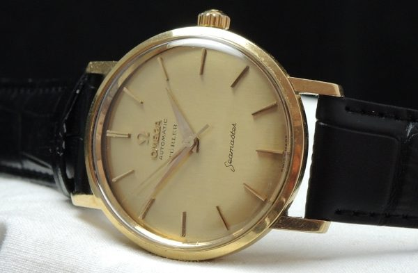 Solid Gold Omega Seamaster Automatic Türler signed