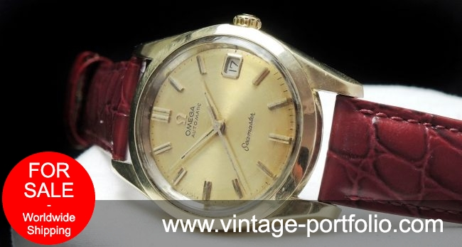 35mm gold plated Omega Seamaster Automatic Date