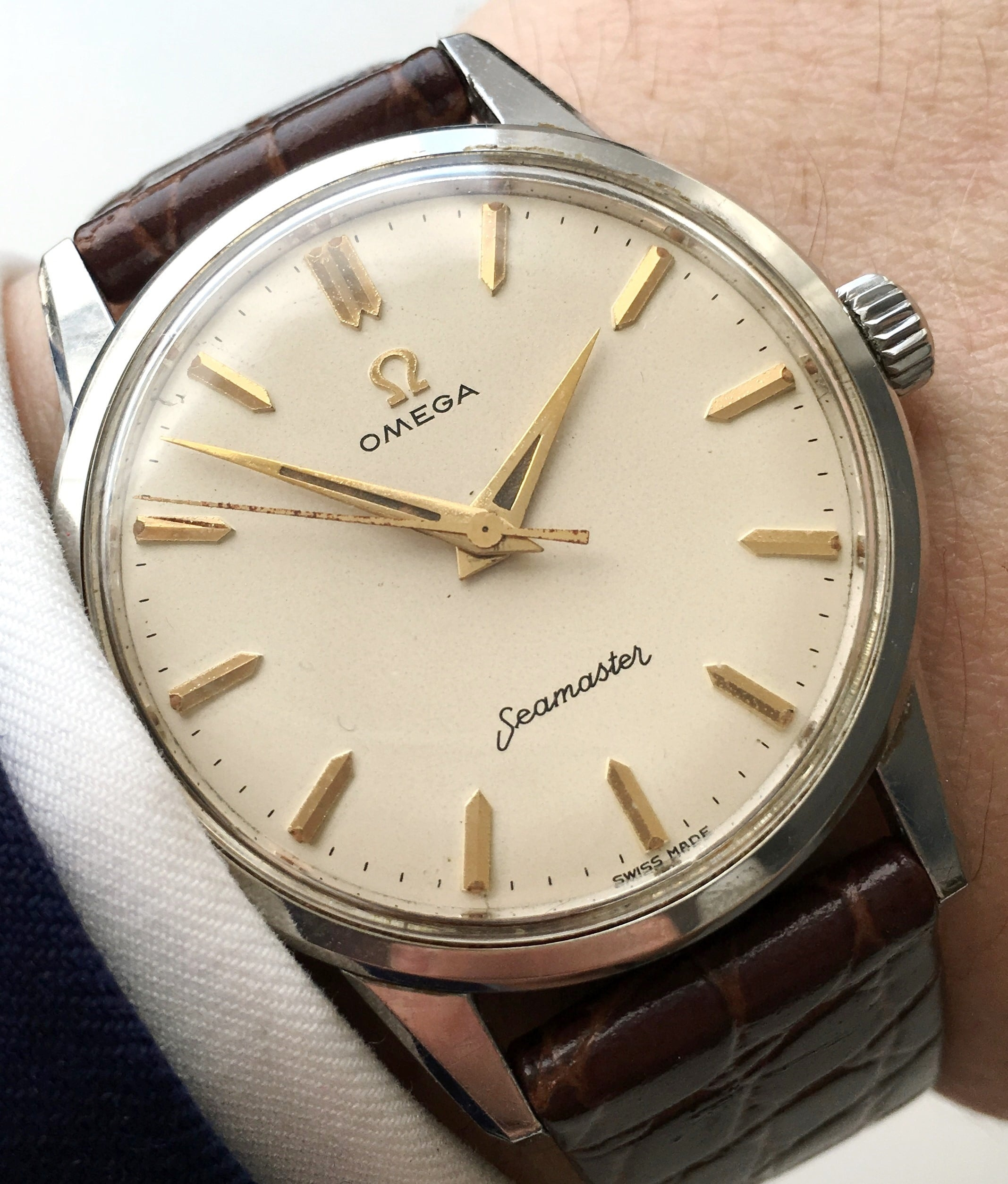Mint massive 35mm omega seamaster vintage watch vintage portfolio for Omega watch vintage