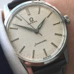 Perfect Omega Seamaster watch with Linen dial 35mm
