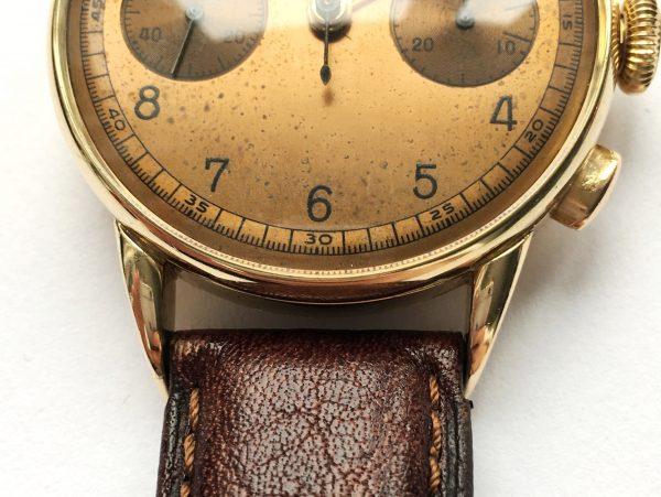 Vintage Omega Solid Gold Oversize Jumbo 38mm 33.3 Chronograph