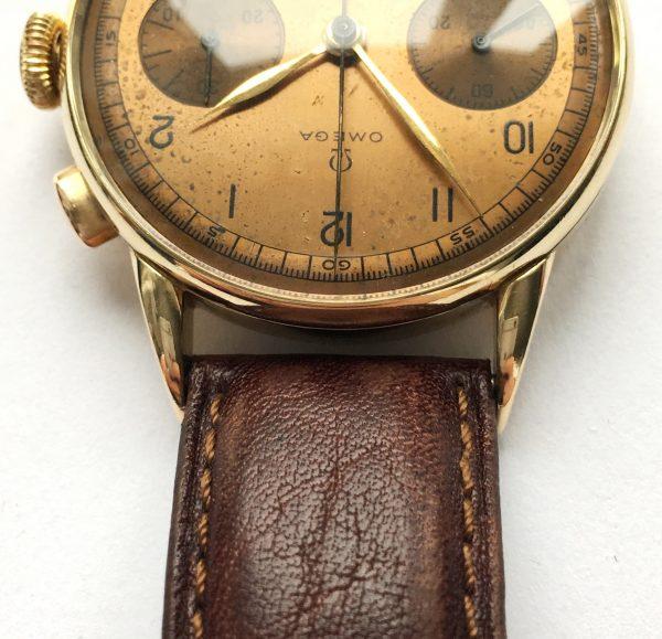 Vintage Omega Solid Gold Jumbo 38mm 33.3 Chronograph