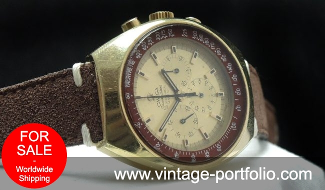 Superrare Omega Speedmaster Mark 2 II two gold plated version
