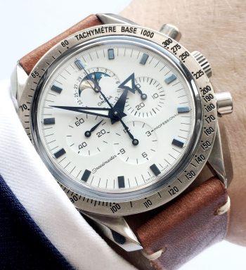 Omega Speedmaster Professional Mondphase white dial