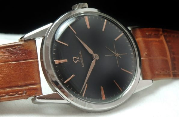 Perfect Omega black dial Vintage Watch 34mm