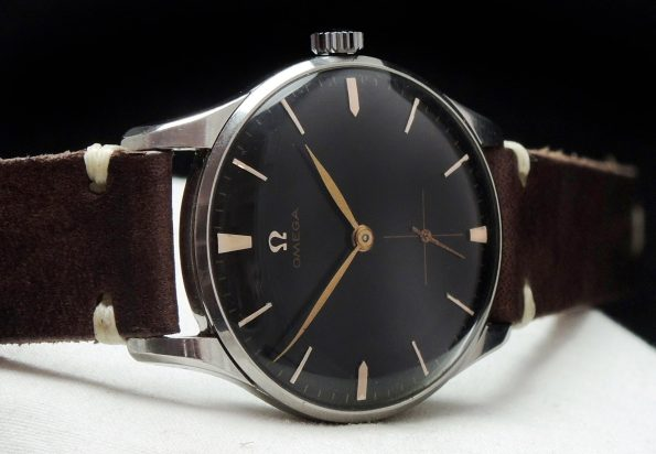 Serviced Omega black dial Vintage 36mm