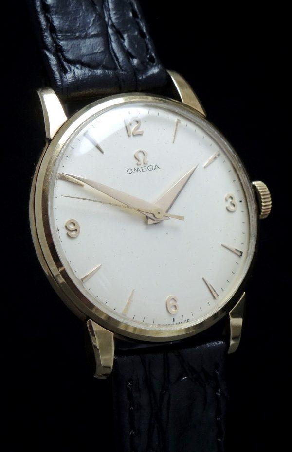 Serviced Omega Solid Gold Vintage Watch Explorer Dial