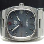 Original Omega Electronic f300 hz Chronometer blue linen dial