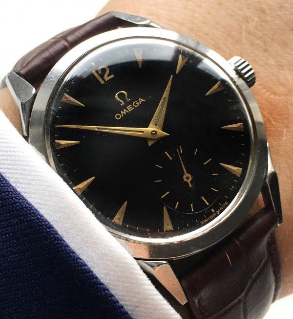 Beautiful Omega black dial Vintage 35mm