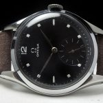 Serviced Oversize Jumbo 38mm Omega black dial Vintage