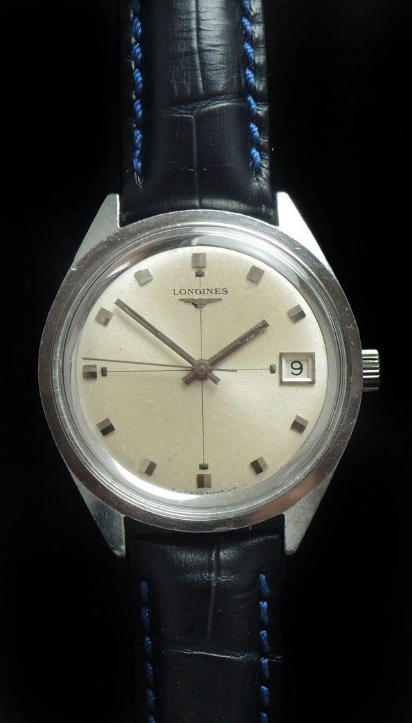 Amazing 37mm Oversize Jumbo Longines Steel Watch Date