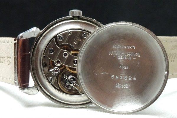 Patek Philippe Stainless Steel Vintage Tea