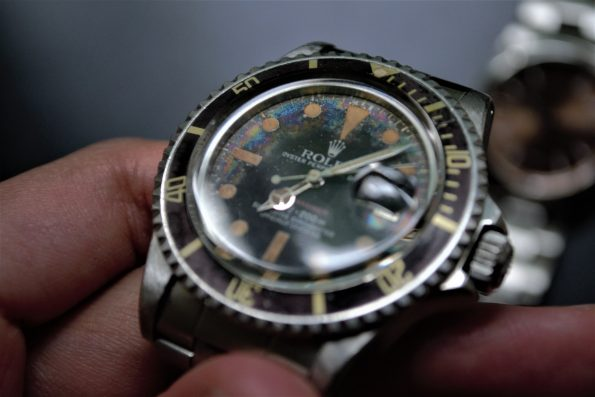 Tropical Rolex Submariner 1680 Red Automatic Vintage Diver Brown Bezel