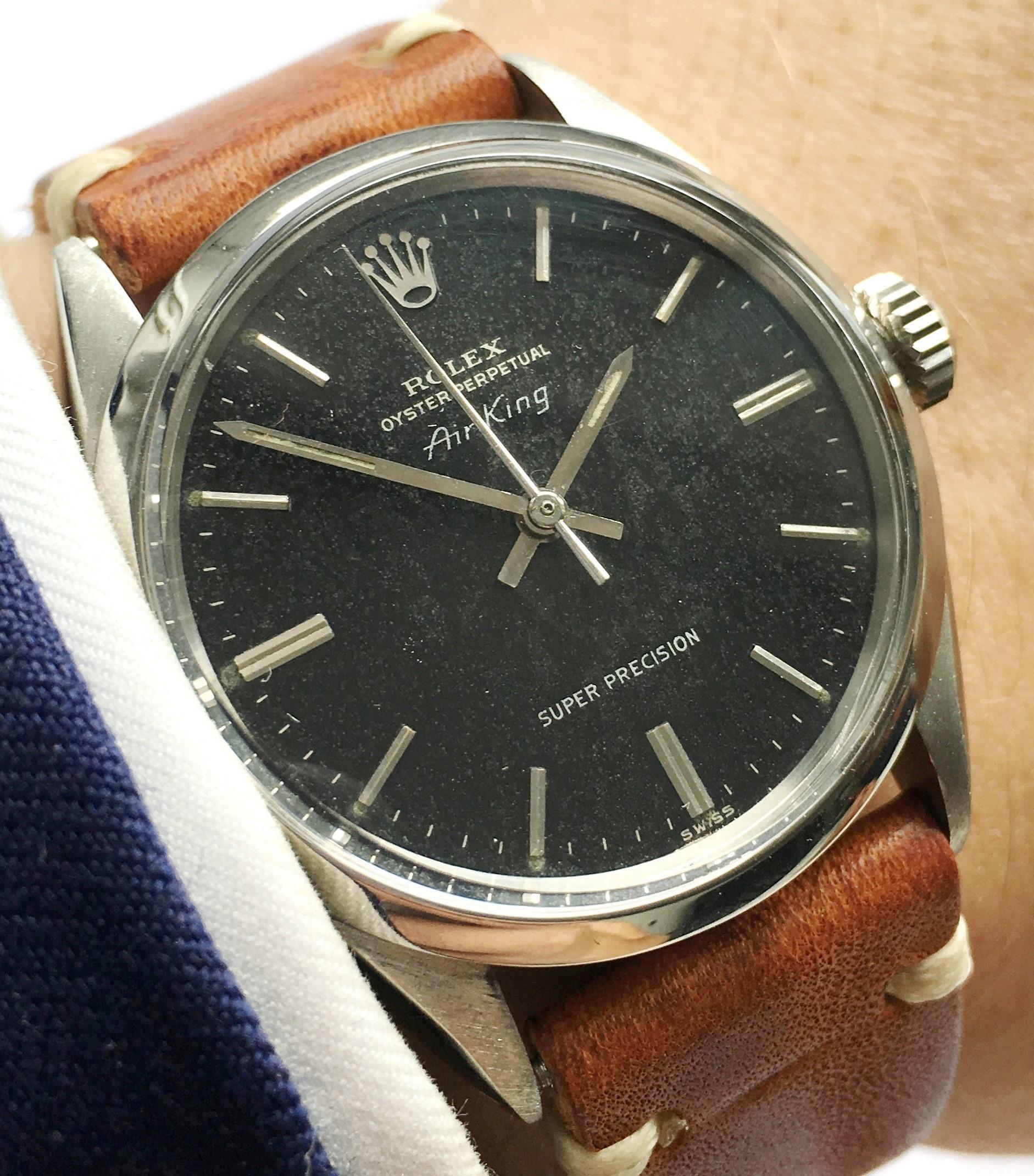 Original Rolex Air King Automatic black chocolate dial Vintage