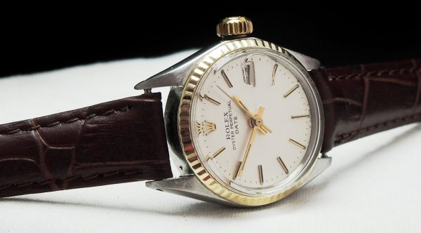 Perfect Rolex Lady Ladies Datejust gold bezel vintage
