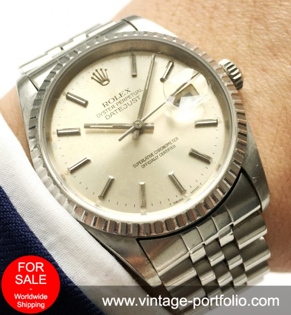 Genuine Rolex Datejust Automatic  Steel Saphir
