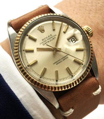 Genuine Rolex Datejust Automatic Steel Gold