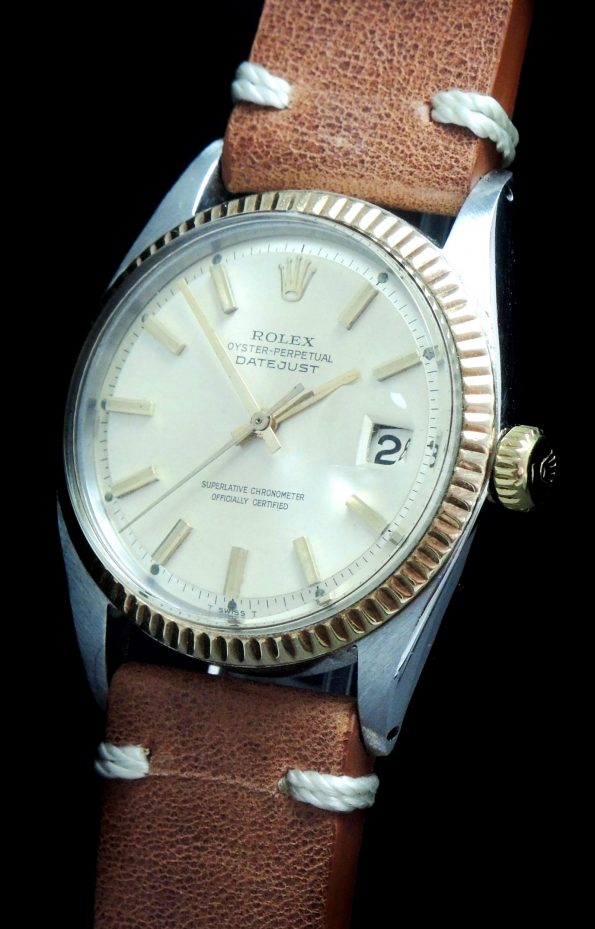 Genuine Rolex Datejust Automatic Steel Gold Vintage
