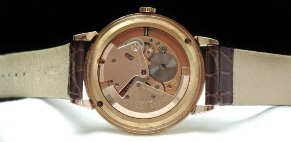 Solid Pink Gold Omega 38mm Oversize Jumbo Honeycomb Automatic
