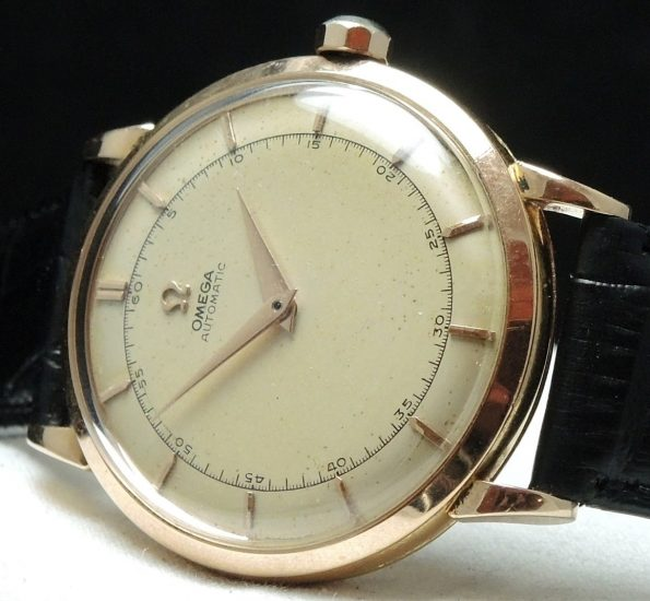 35mm Pink gold Omega Bumper Vintage Automatic