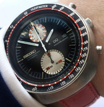 Great Seiko UFO Day Date Chronograph in Racing Style Vintage