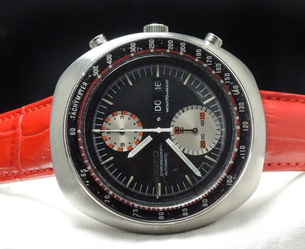 Great Seiko Day Date Chronograph in Racing Style Vintage