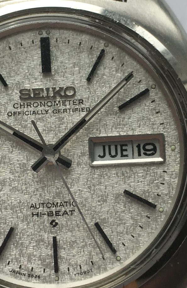 Seiko Hi Beat Automatic with amazing dial and steel strap