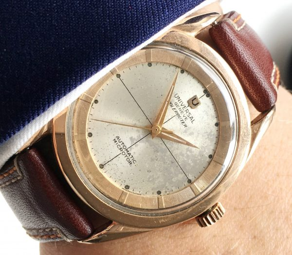 Universal Geneve Polerouter Automatic Pink Gold Plated